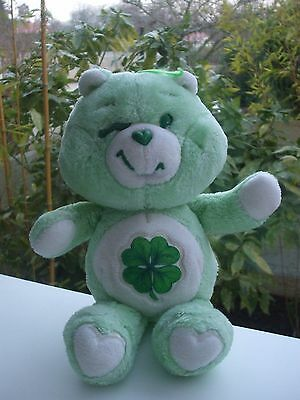 Vintage Peluche Doudou Ours Care Bear Bisounours Gros Veinard 33 Cm Kenner
