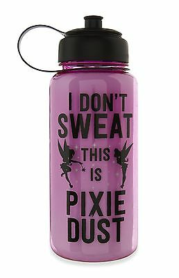 'I Don't Sweat this Is Pixie Dust' Pink Water Bottle