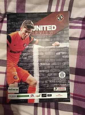 Dundee United v Queen Of The South Scottish Championship 14/1/17