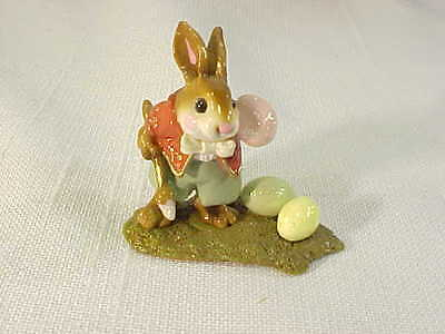 Darling Wee Forest Folk Easter Bunny With Eggs 1999 AP Signed