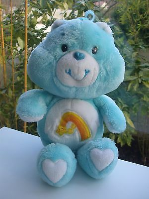 Vintage Peluche Doudou Ours Care Bear Bisounours Gros Taquin 33 Cm Kenner 1983