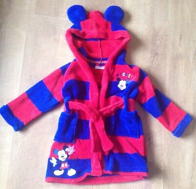 Dressing Gown Disney Micky Mouse Age 12-18m
