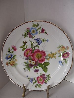 Very pretty German porcelain floral plate.