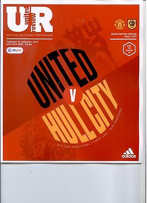 MANCHESTER UNITED v HULL CITY (LEAGUE CUP SEMI FINAL)  2016/17