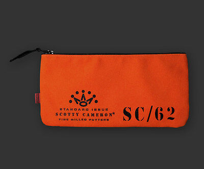 Scotty Cameron Canvas CASH BAG - ORANGE - BRAND NEW - VERY LIMITED
