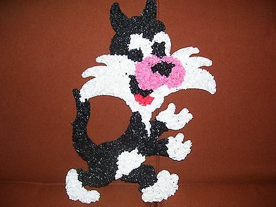 VINTAGE PLASTIC MELTED POPCORN SYLVESTER THE CAT DECO 70's-RETRO-MID CENTURY