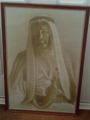 Large Painting/Print on Canvas of a Bedouin Arab Really Beautiful