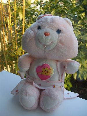 Vintage Peluche Doudou Ours Care Bear Bisounours Ti Coquine 26 Cm Kenner 1985