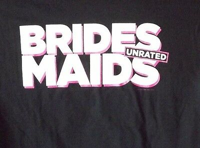 Brides Maids Unrated T-Shirt Black Small