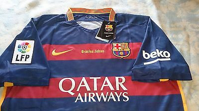 Camiseta Barcelona Homenaje Johan Cruyff - Shirt- Jersey - Messi -  Tribute