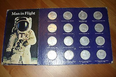 Shell 'man In Flight' Coin Collection