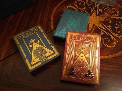 3 Deck Set Dedalo Ultra Rare Limited Edition Custom Playing Cards With Coin