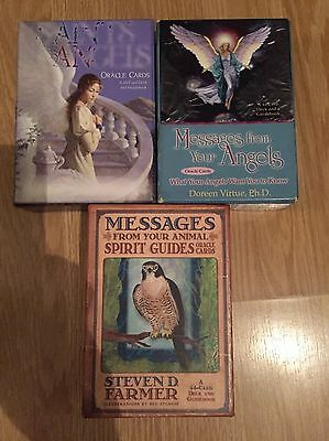 Bundle 3 Tarot/oracle Cards Messages From Angels Saints Spirits Doreen Virtue