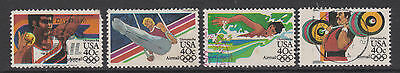 USA 1953   - SG A2022/5 - Olympic Games Los Angeles - set of 4 used