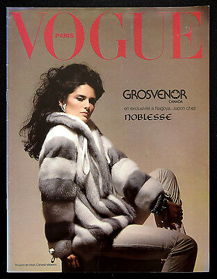 VOGUE PARIS GROSVENOR 1981-82 Fur Collection Catalog - Pelze Pellicce Fourrure