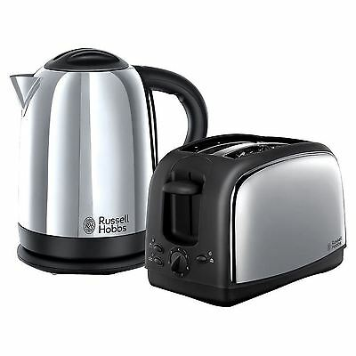Russell Hobbs Lincoln Twin Pack Kettle And Toaster Set In Stainless/s - 21830