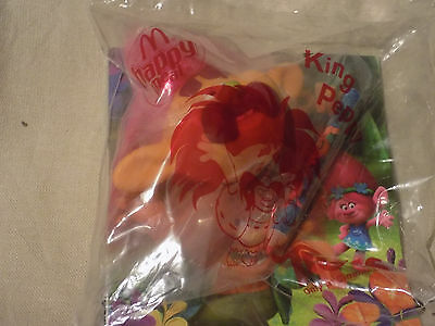 McDonalds Happy Meal toy, Trolls, King Peppy pencil topper. New in bag.