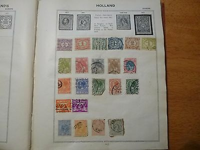 holland stamps in old album