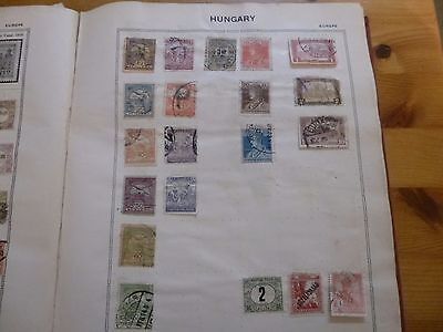 hungary stamps in old album 2 pages
