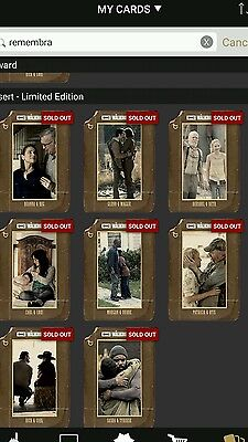 Topps walking dead remembrance set with award