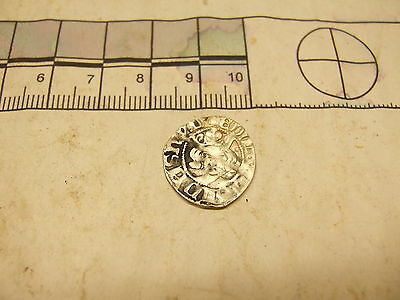 Edward hammered silver penny, metal detecting find.
