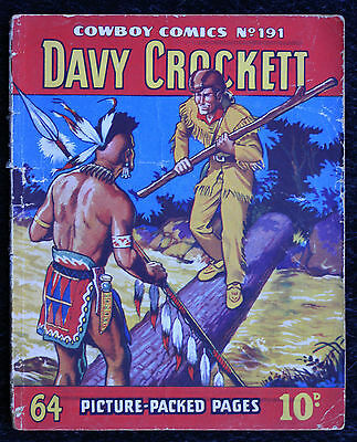 old British Comic book Cowboy comics library all in pictures # 191 Davy Crockett