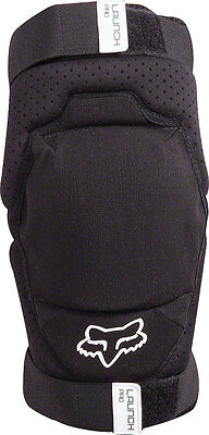 Fox Racing Launch Pro Protective Knee Pad: Pair Black SM/MD
