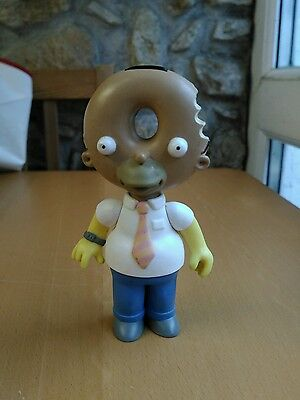 The Simpsons World of Springfield Donut Head Homer Figure Very Rare Playmate