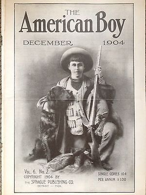 Vintage 1904 Print Ad (D9U)~The American Boy 1904 Cover Page