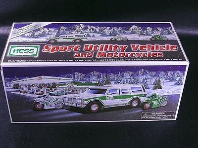 HESS TRUCK 2004 SPORT UTILITY VEHICLE AND MOTORCYCLES  MINT IN BOX  NICE/CLEAN t