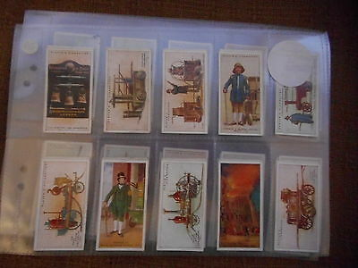 Full Set Cigarette Cards - Players Fire Fighting Appliances