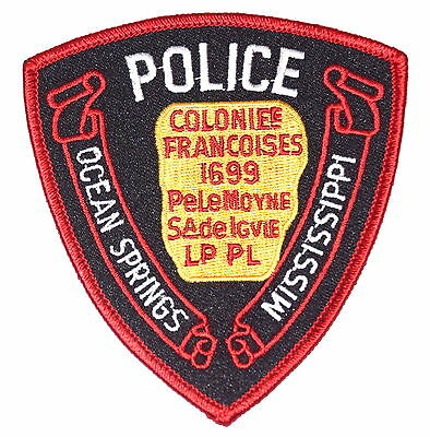 OCEAN SPRINGS MISSISSIPPI MS Police Sheriff Patch FRENCH COLONY TABLET ~