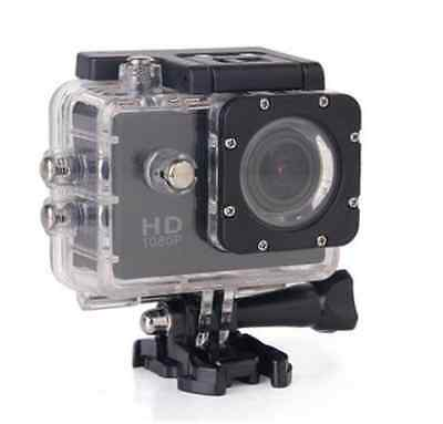 Black 1080P HD Sports/Action Camera 30M WaterProof with 11 Accessories!