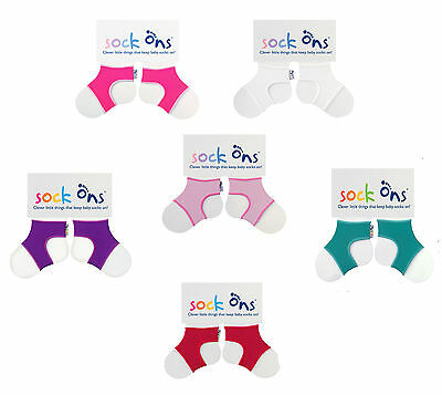 Baby Girls 3 PAIRS Sock Ons Sock Keepers Size 6-12 Months - Choose Your Colours