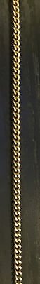 9Ct Solid Gold 24 Inch Curb Chain Not Scrap 6.45 Grams