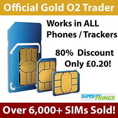 2G Sim Card for GPS Tracking Device Tracker GSM Car Pet Child Personal on O2 02