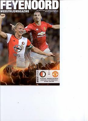 FEYENOORD v MANCHESTER UNITED (OFFICIAL PROGRAMME) (EUROPA LEAGUE) 2016/17
