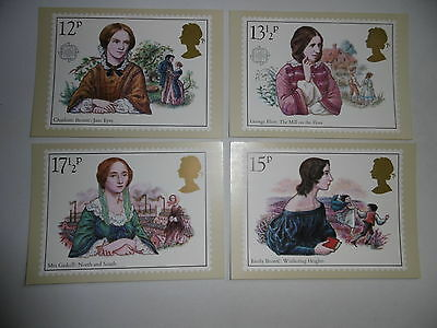 SG1125-1128 1980 Famous Authoresses. Mint Stamp Cards PHQ44.
