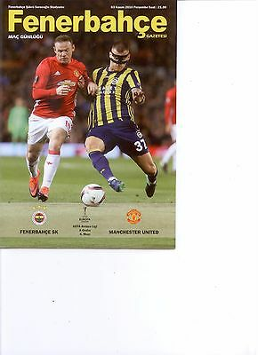 FENERBAHCE v MANCHESTER UNITED (OFFICIAL PROGRAMME) (EUROPA LEAGUE) 2016/17