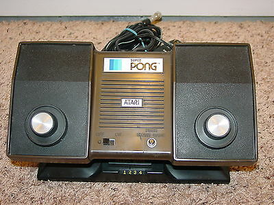 Vintage Atari Super Pong Game Console System
