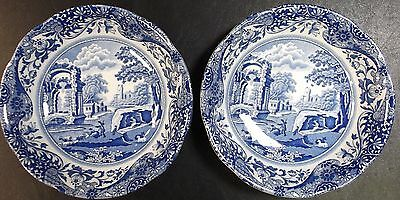 Spode Blue Italian 2 x Dessert Or Cereal Bowls     To