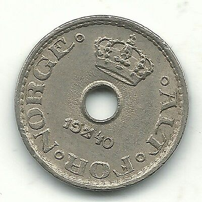 A Very Nice Higher Grade 1940 Norway 10 Ore-Jan243