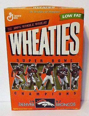 Football: 1997 Denver Broncos Super Bowl Champions XXXII, Wheaties Cereal Box