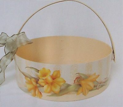 """Peggy Stogdill Gorgeous tole painting pattern """"Daffodils on a Sending Basket"""""""