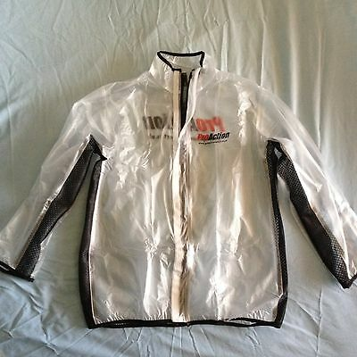Motocross/ Enduro MUD JACKET clear WATERPROOF RAIN COAT LARGE bmx mtb