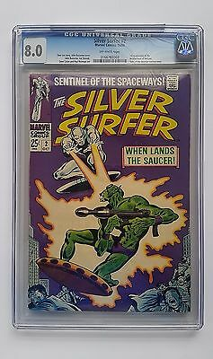 Silver Surfer #2 CGC 8.0 Volume 1 OW Marvel Comics Stan Lee John Buscema 10/1968