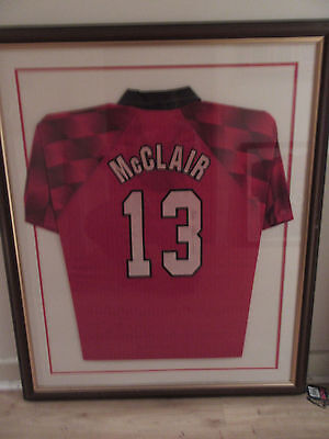 Manchester United Signed Shirt Brian McClair