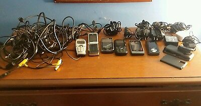 Cellphone lot charger lot assorted cell phones and charger