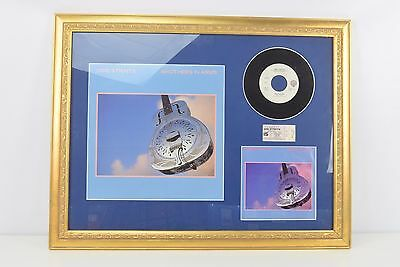 Dire Straits Collectible Framed Record, Album Covers, & Concert Ticket Stub
