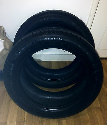 Michelin  Primacy HP  225-50 -R17 (94y)  X 2 TYRES  approx 5mm tread